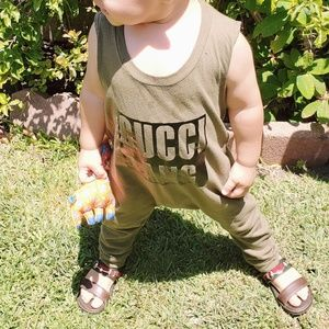 Other - Gucci Gang hipster romper